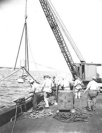 Herald being lowered